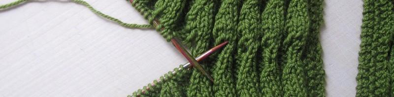 Loop-Schal, Technik-Detail, verbinden im Maschenstich