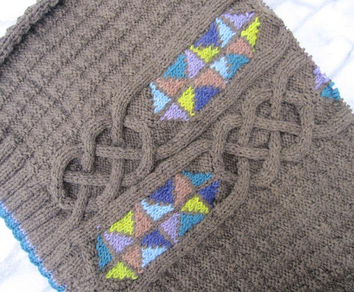 Rückenteil gestrickter Pullover