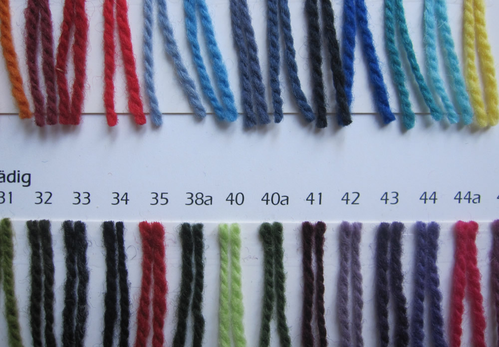 shade card wendelstein wool