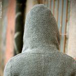 Trachtenjacke mit Kapuze, Detail von hinten
