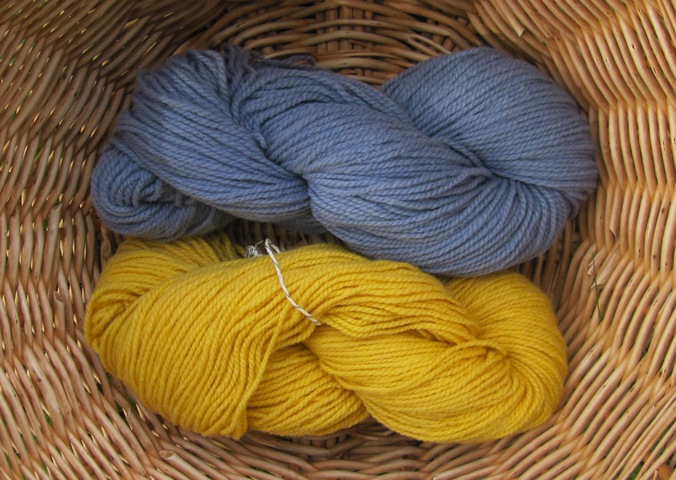 Wendelstein wool light blue and yellow