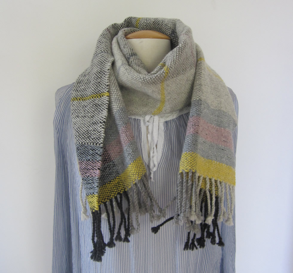 Woven scarf made with Wendelstein Wool